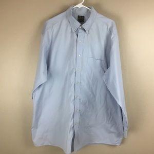 Jos A. Bank mens blue dress shirt 18 35